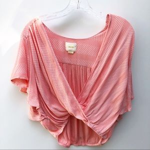 Anthropologie Maeve Pink Crop Top size small